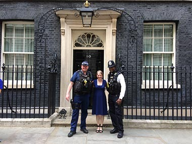 Giggy & Bab at Number 10 Downing Street