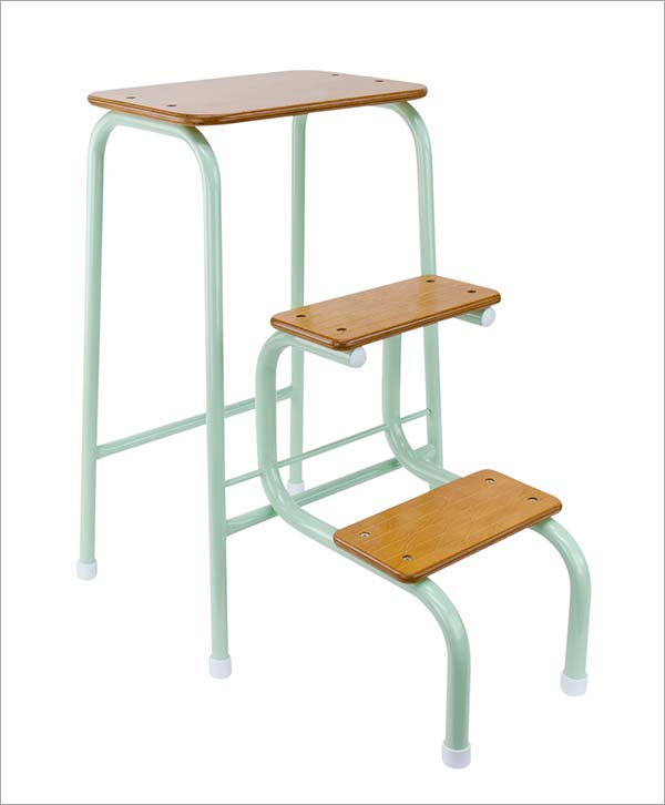 Giggy & Bab Hornsey stool in mint green