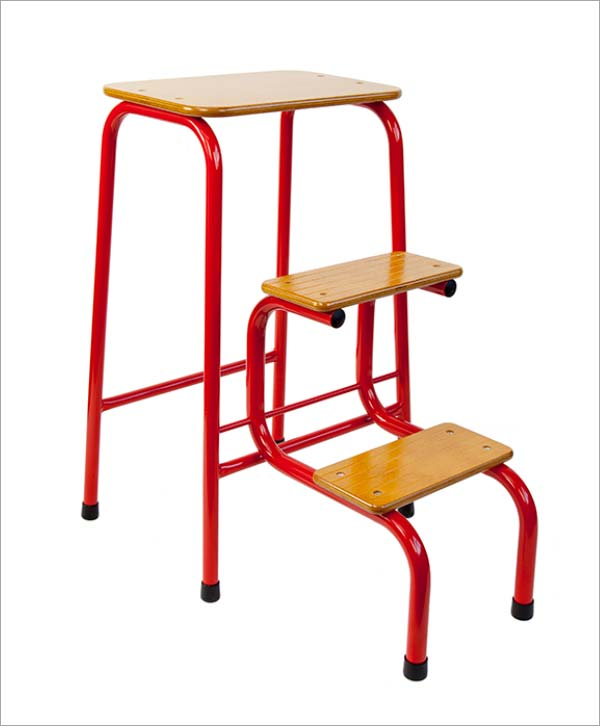 Giggy & Bab Hornsey stool in red