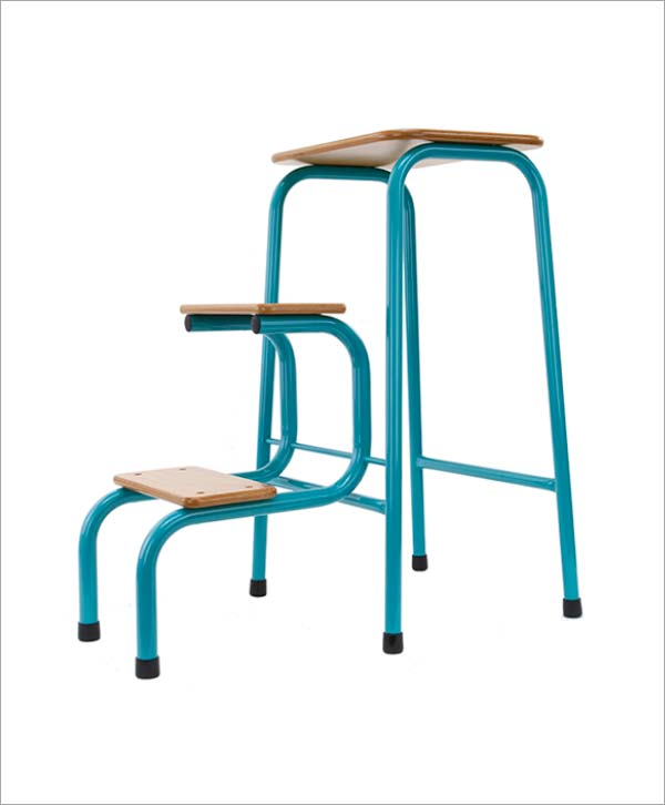 Giggy & Bab Hornsey stool in teal