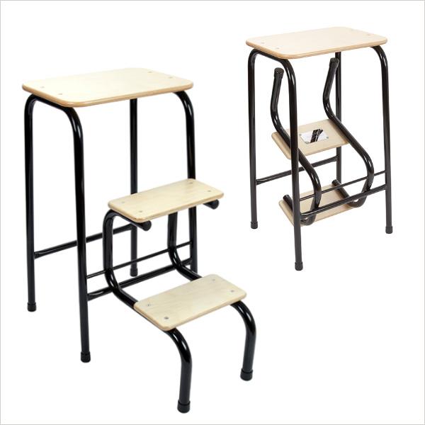 Birchwood stool in black