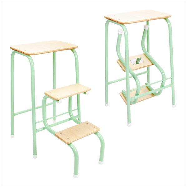 Birchwood stool in mint green