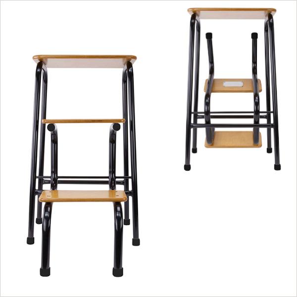 Hornsey stool in black