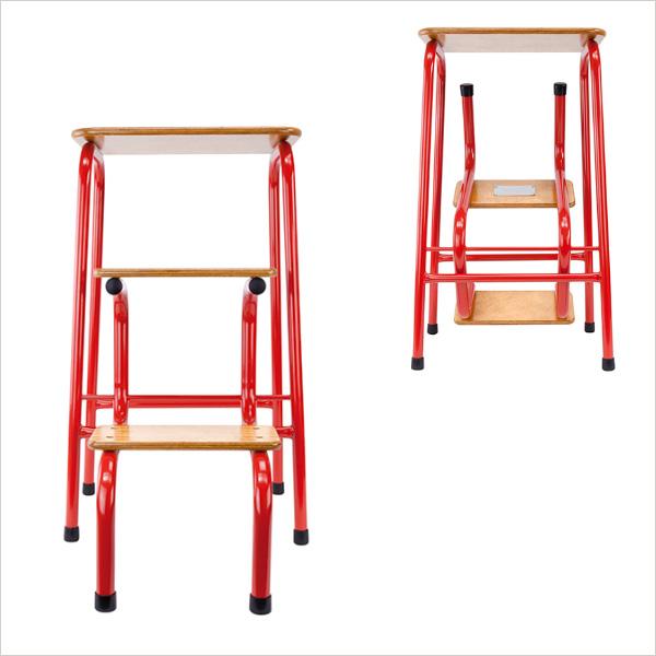 Hornsey stool in red