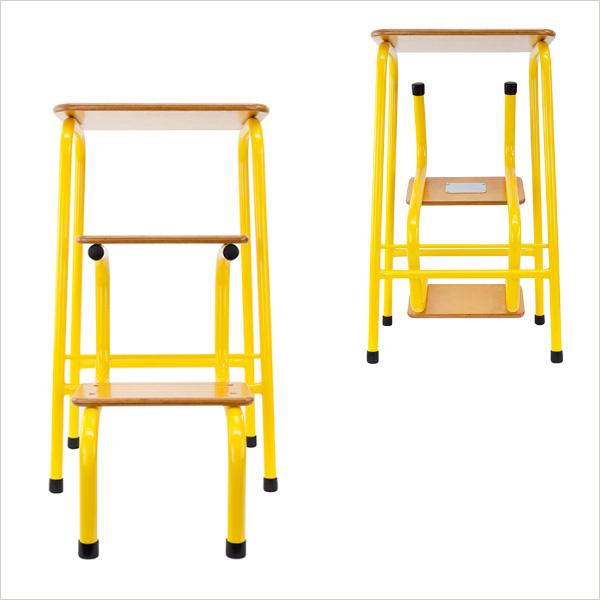 Hornsey stool in yellow