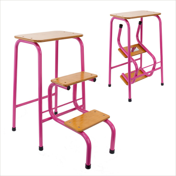 Hornsey stool in hot pink