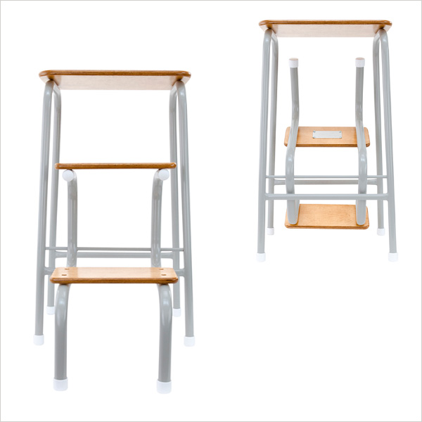 Hornsey stool in pale grey